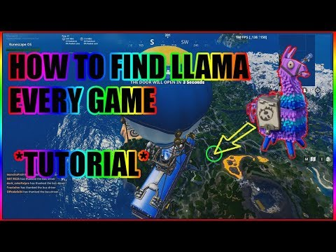 Finding A Llama EVERY GAME Tutorial - FORTNITE BATTLE ROYALE