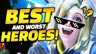 Overwatch BEST and WORST Heroes RIGHT NOW! - Hero Tier List Season 20!