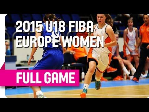 Netherlands v Estonia - Group D - Full Game - 2015 U18 European Championship Women