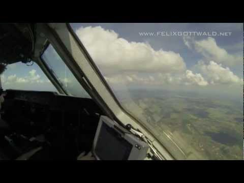 Pilot's view - Lufthansa Cargo MD-11 Dakar-Viracopos from the cockpit HD