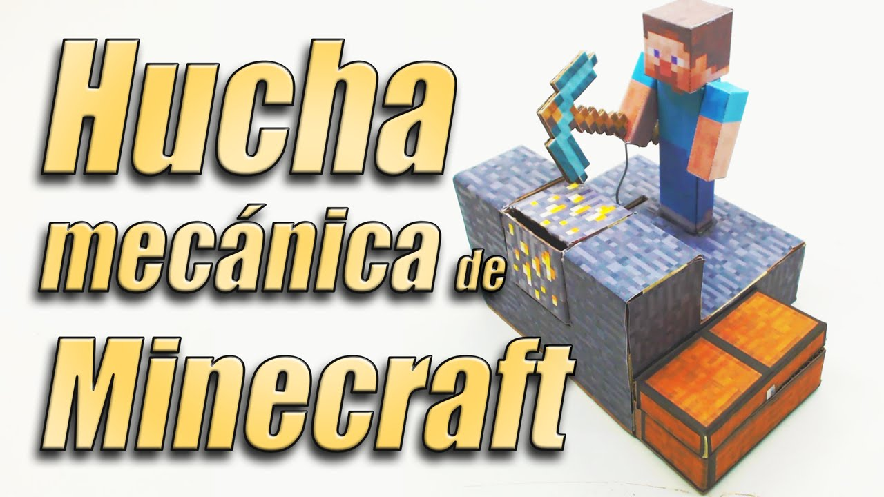 Minecraft mechanical moneybox how it is done youtube