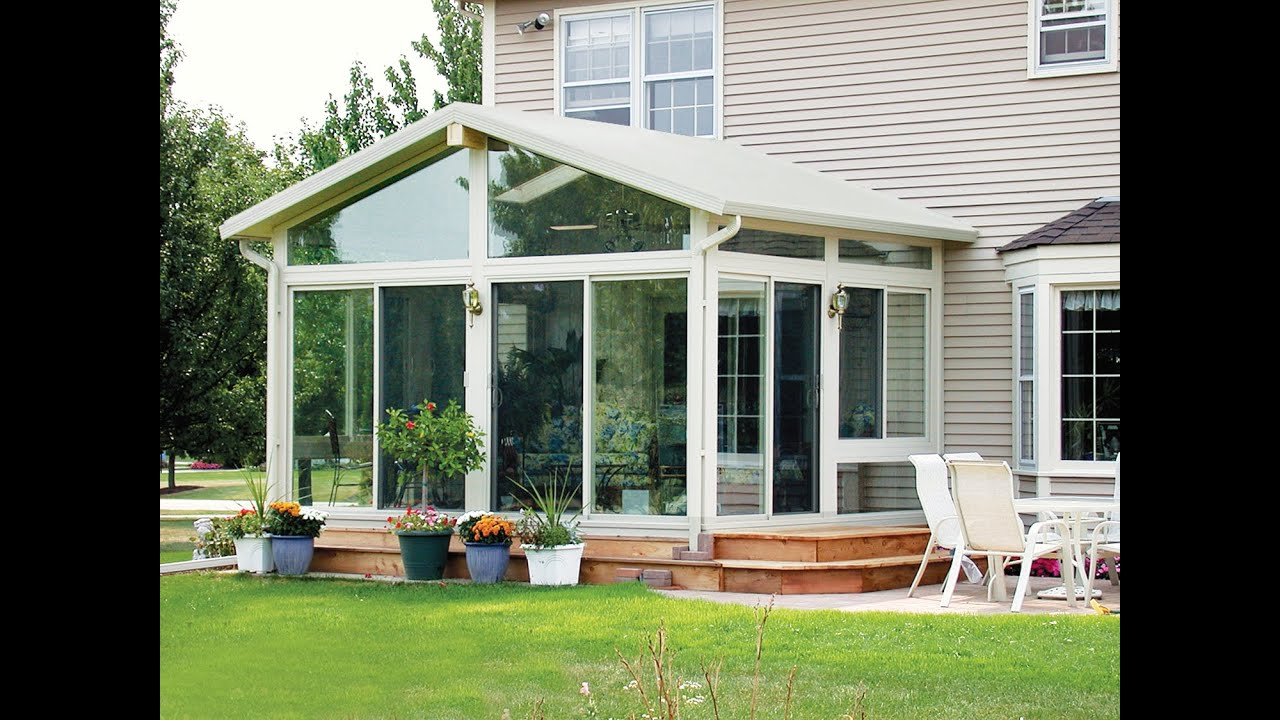 Sun room addition cost arden nc youtube for House sunroom