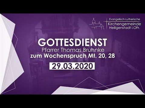 Ev. Gottesdienst Zum Sonntag Judica Mit Pfr. Thomas Bruhnke Am 29.03.2020