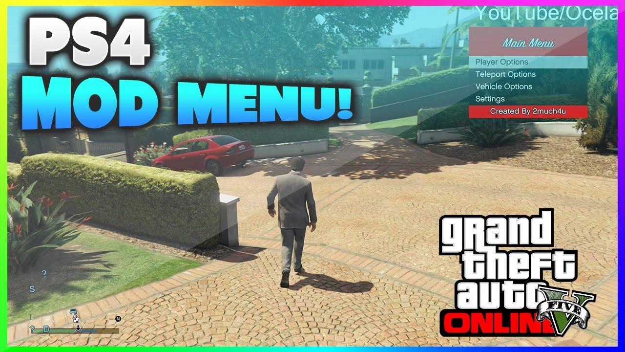 GTA V PS4 MOD MENU RELEASED! + DOWNLOAD - YouTube