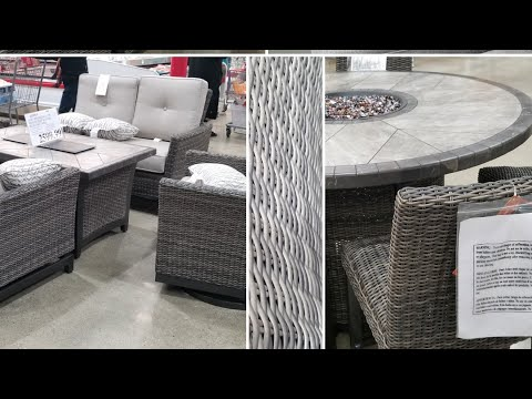 Costco! Outdoor Furniture Fire Tables, Dining and Lounge Sets.