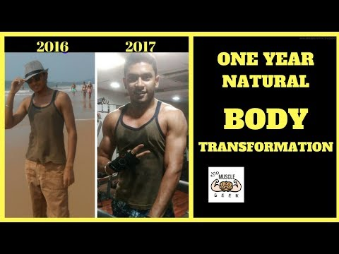One Year Natural Body Transformation | Indian Body | Aesthetic Motivation | Aman Sagar