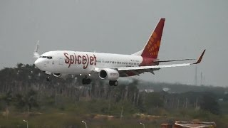 SpiceJet 737-800 landing in Madurai, India  (VT-SZA)