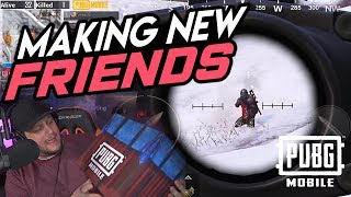 MAKING NEW FRIENDS in PUBG Mobile + IRL SUPPLY DROP!