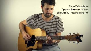 Soundcheck of the Rode VideoMicro for Acoustic Guitar
