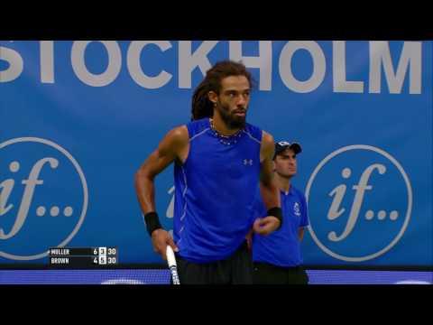 If Stockholm Open, Dustin Brown, 4 Straight Points vs Gilles Muller, Oct 18, 2016