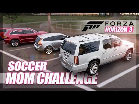 Forza Horizon 3 - Soccer Mom Challenge! (Funny & Random Moments)