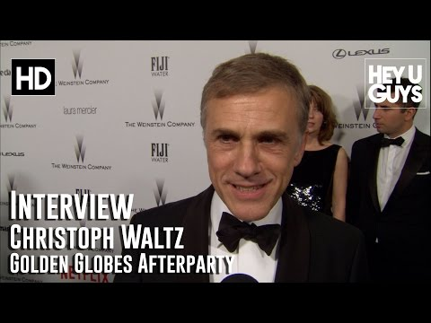 Christoph Waltz Interview (Big Eyes) - Golden Globes 2015