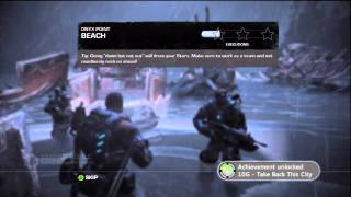 """Gears of War: Judgment - Beach: """"Take Back This City"""" Achievement, Atmosphere Setting Xbox 360"""