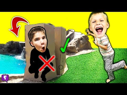 DON'T TACKLE WRONG MYSTERY BOX into POND! Challenge by HobbyKidsTV