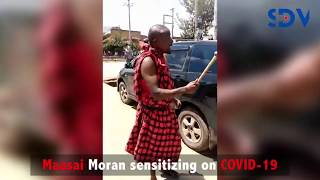 Moran VS COVID-19: Maasai Moran vocally sensitizes onlookers against Coronavirus in trending video