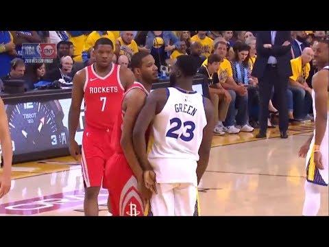 Trevor Ariza & Draymond Green Double Technical | Warriors vs Rockets Game 3 | May 20, 2018