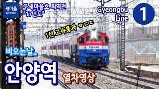 경부선 (1호선) 안양역 열차영상 (2017.12.24)
