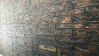 الملمس الخارجي التصميم على الجدار الداخلي||قمة createx الطوب