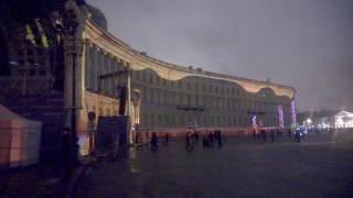 Новогоднее световое шоу на Дворцовой