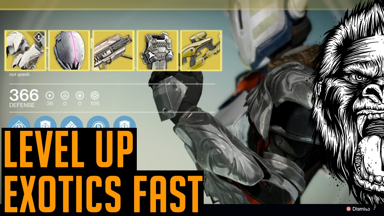 Destiny how to level up exotics fast fastest way to upgrade exotic