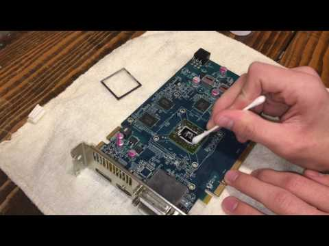 Cleaning Thermal Paste off of a Graphics Card