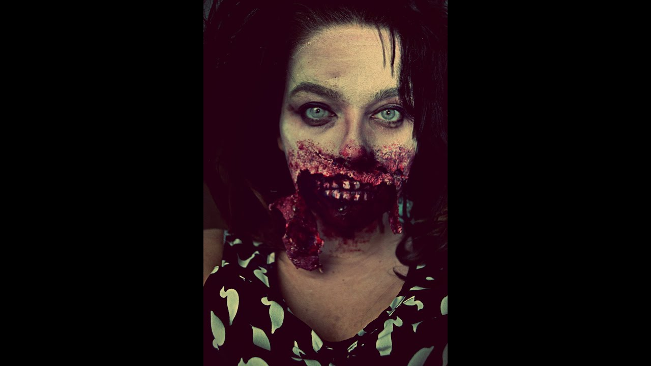 gory zombie makeup tutorial youtube