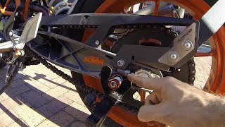 TUTORIAL: Como Ajustar la Cadena de mi Moto DUKE KTM 390 250 200 y RC