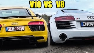 Audi R8 V10 PLUS VS Audi R8 V8 - Wich Sounds Better?!