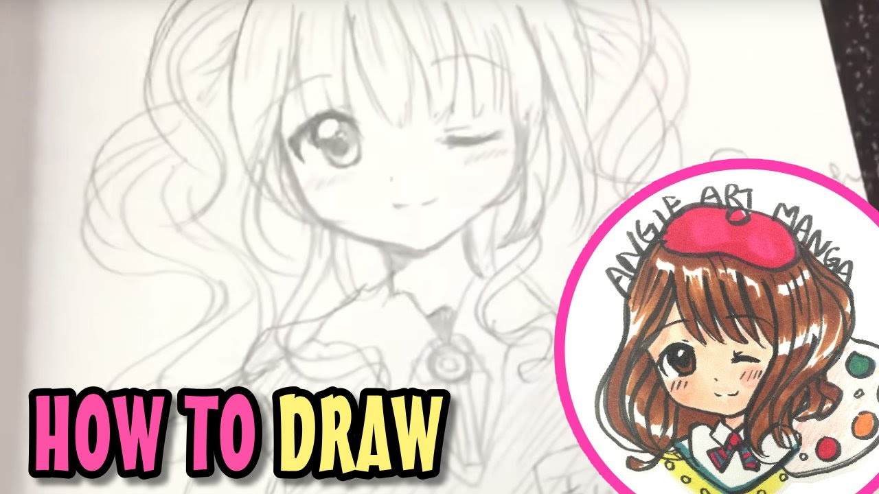 Drawing anime girl real time 💚💖 youtube