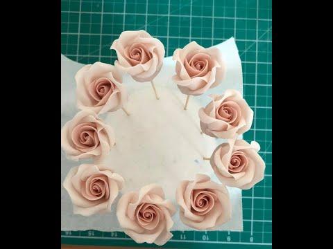 How To Make A Fondant Rose Tutorial