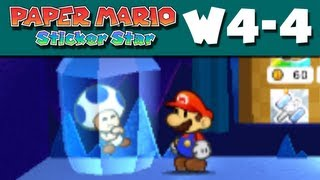 Paper Mario Sticker Star - W4-4 - Shaved-Ice Cave (Nintendo 3DS Gameplay Walkthrough)