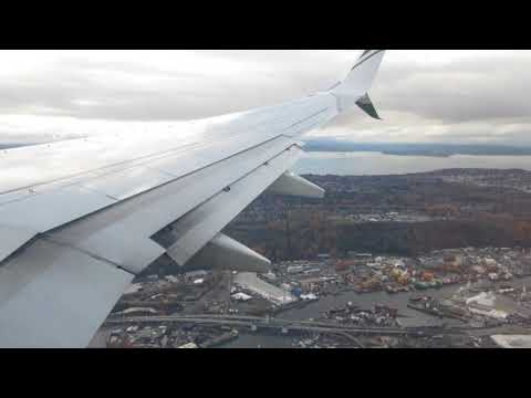 Landing at Seattle-Tacoma International Airport from San Francisco International Airport