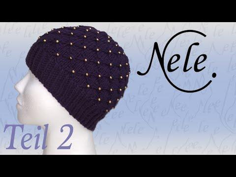 Mütze stricken, Strickmütze mit Perlen eingearbeitet, DIY Anleitung by Nele C., Teil 2