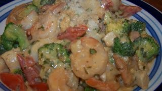 Shrimp, Chicken, Alfredo, Basil, Sauce, Angel Hair, Pasta Chef John The Ghetto Gourmet Show Ii