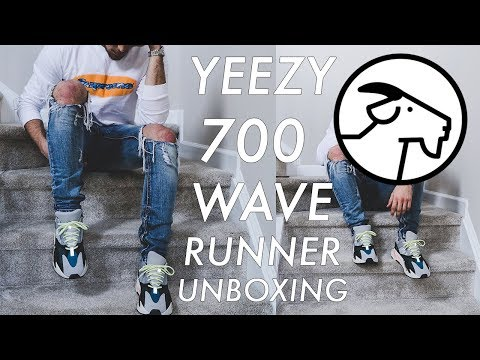 online store 79ccb 2f06f YEEZY 700 UNBOXING (GIVEAWAY) | Wave Runner, GOAT, On-feet ...