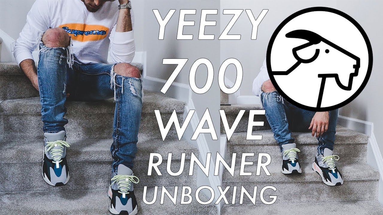 the latest 28bbf f78bc YEEZY 700 UNBOXING (GIVEAWAY) | Wave Runner, GOAT, On-feet, Outfit, How to  Style, Jordan McKeithan