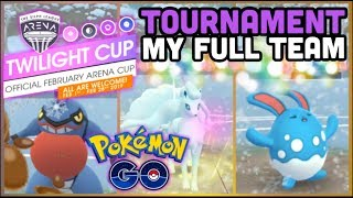Twilight Cup Tournament & my full team in Pokemon GO