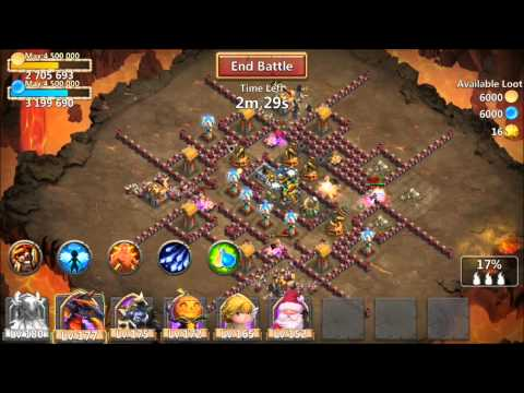 Castle Clash 7 Of 9 Druid VS 8 Of 9 Skill Level Druid Is It Worth Leveling Up?