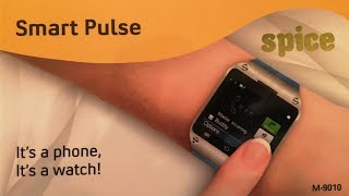 Spice Smart Pulse Smartwatch Phone Review, Unboxing, Price & Features Overview