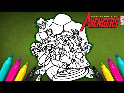 Avengers Comic Book Cover Coloring | EARTH'S MIGHTIEST HEROES!