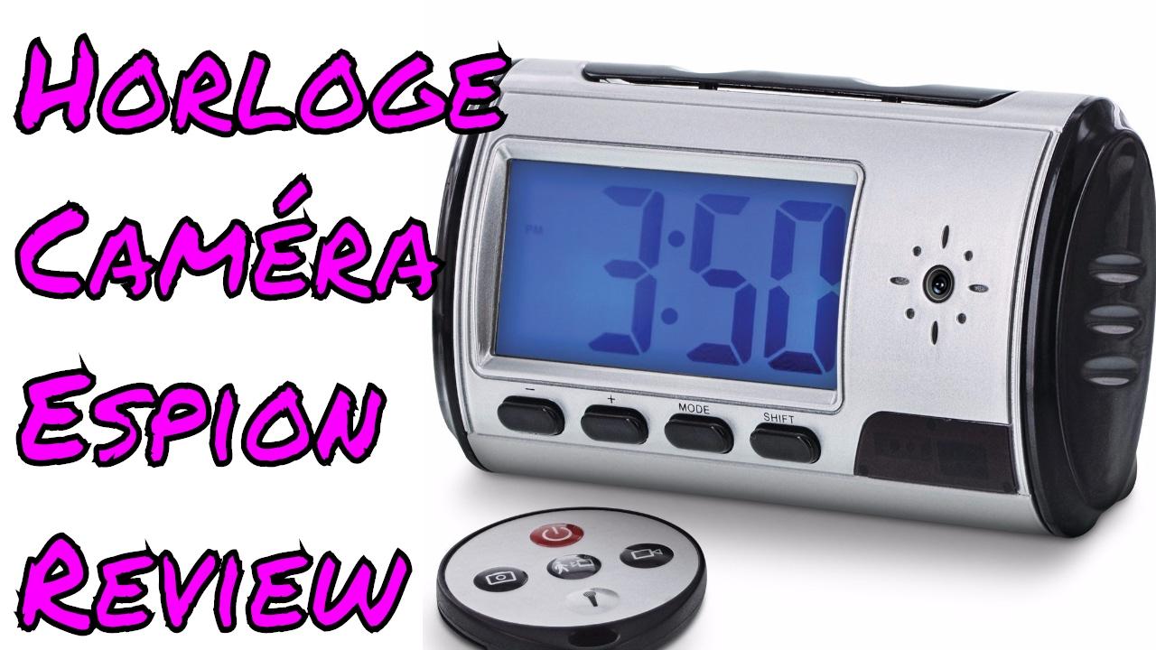horloge cam ra espion cadran digital enregistreur num rique hd camera cach e review. Black Bedroom Furniture Sets. Home Design Ideas