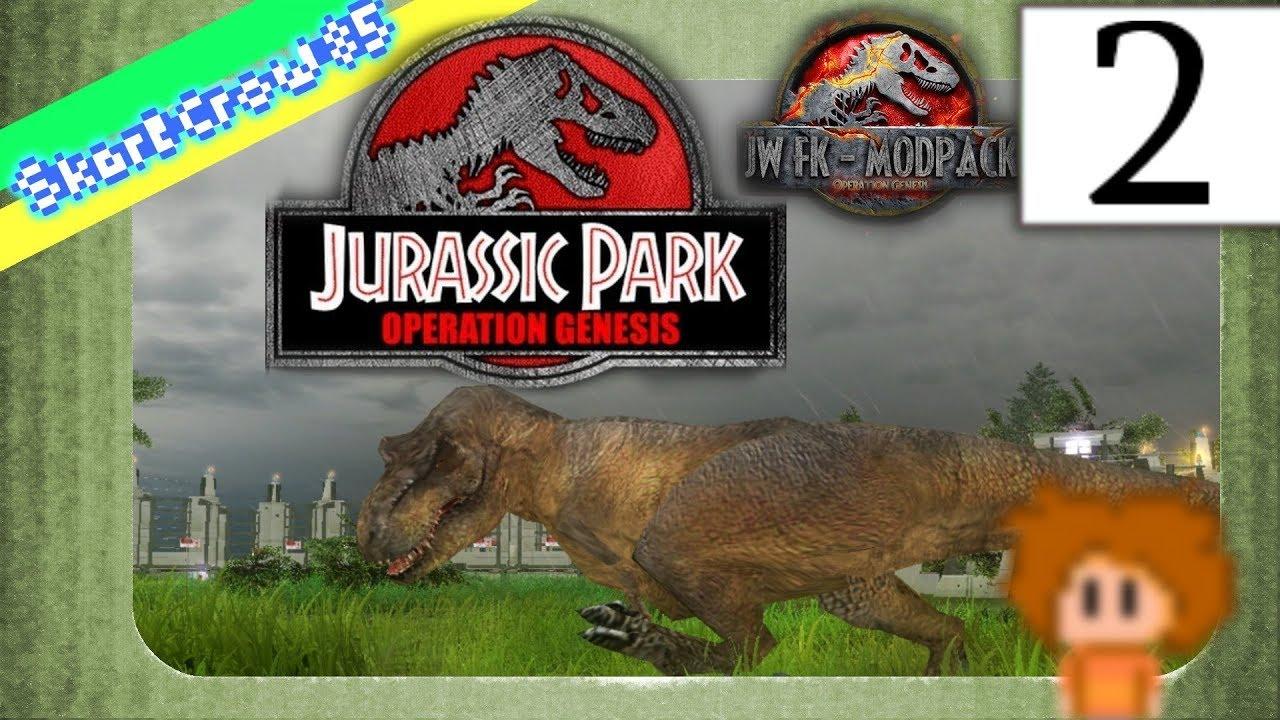 Jurassic Park Operation Genesis FALLEN KINGDOM Mod PART 2 ...
