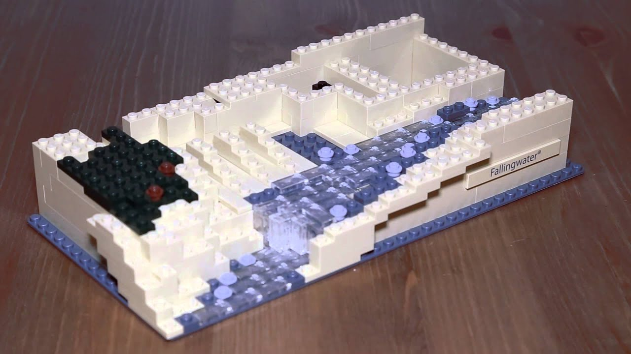 lego architecture falling water frank lloyd wright 21005 youtube