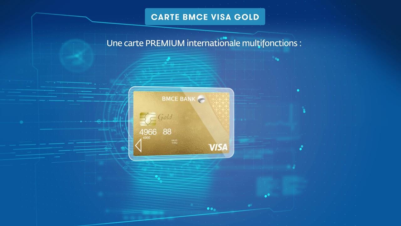 Service Innovant De La Banque Connectée Carte Bmce Visa Gold