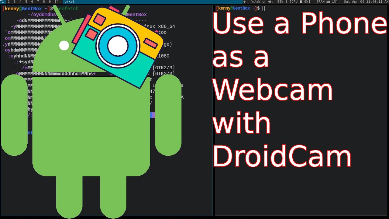 Get a Free Webcam In Linux Using Your Phone & DroidCam