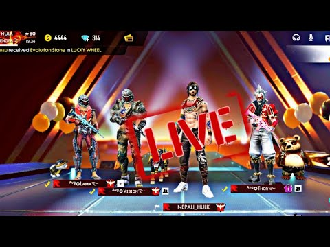 Live Stream Freefire custom room only play  Free Entry!