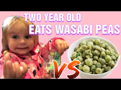 two-year-old-takes-on-wasabi-peas---food-challenge