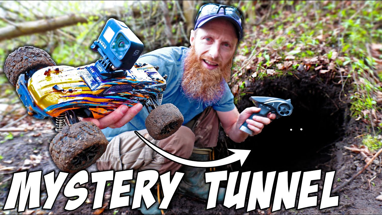 Download Sending RC Car CAMERA 40' Deep in MYSTERY ANIMAL TUNNEL!!!