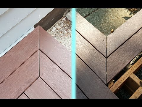 How to make 45 degree Deck Corners / Deck Frame Trick. Как строить углы террасы