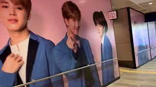 韓国の三成駅のcoexモール前にあるロッテ免税店(LDF)の BTS (防弾少年団...